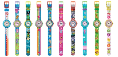Montres Flik Flak Cute Size collection Funny Hours
