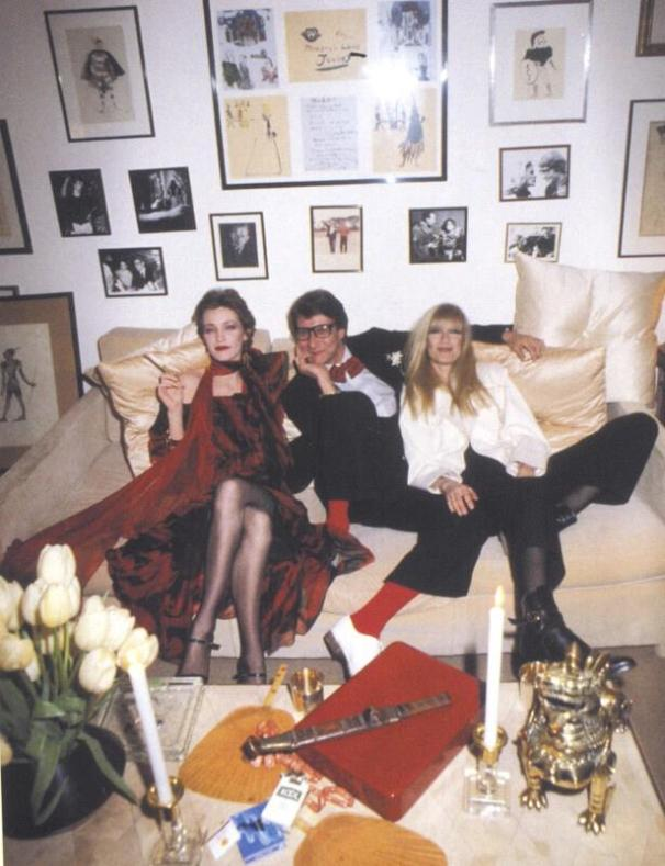 Loulou de la Falaise, Yves Saint Lurent et Betty Catroux.