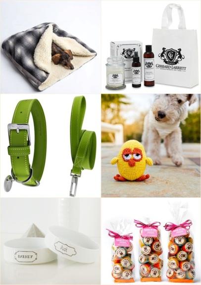 Sélection de cadeaux de Noël pour chiens