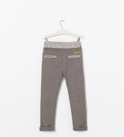Pantalon en tissu éponge avec poches